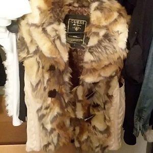 Guess Los Angeles faux fur vest. Worn 2x